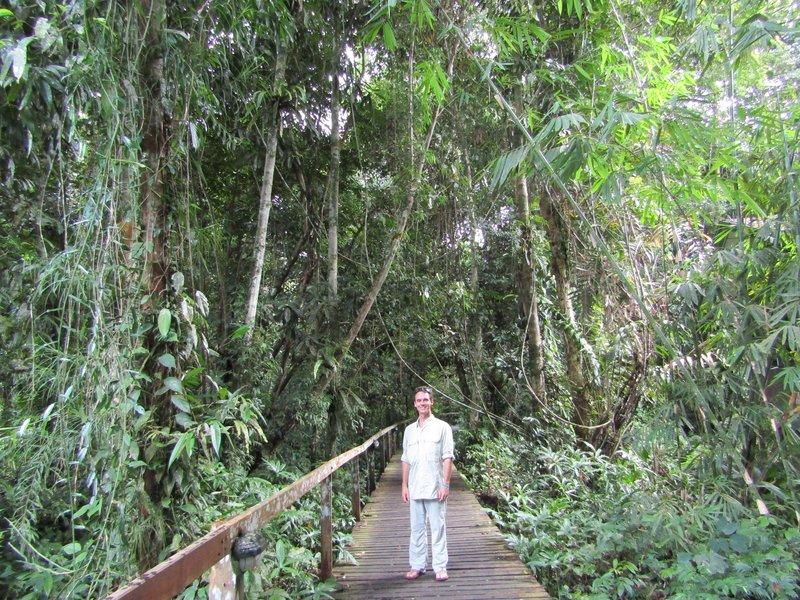 Loic on the botanical trail