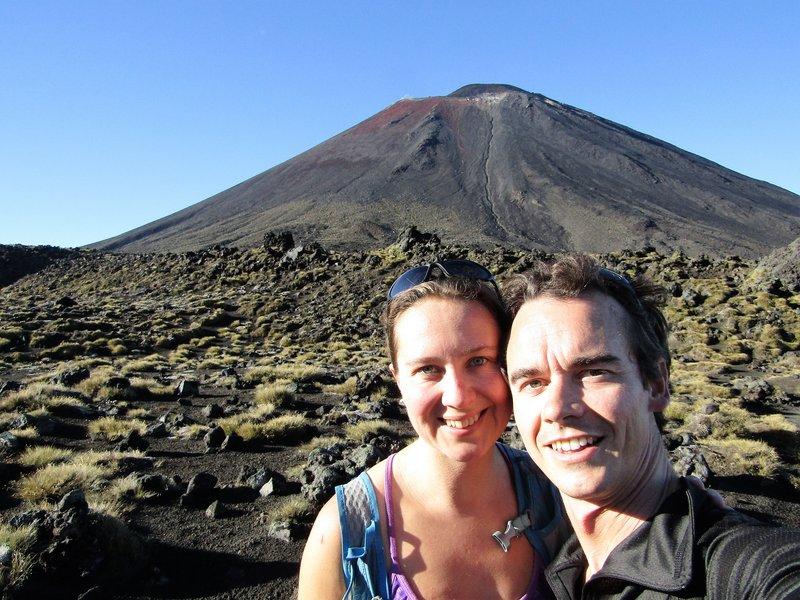 Mt Ngauruhoe, an active and still smoking volcano