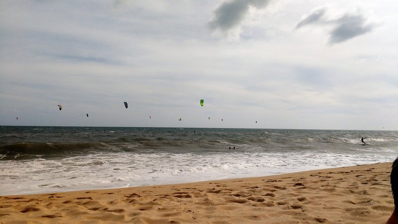Mui Ne is a major kiteboarding spot due to the constant winds