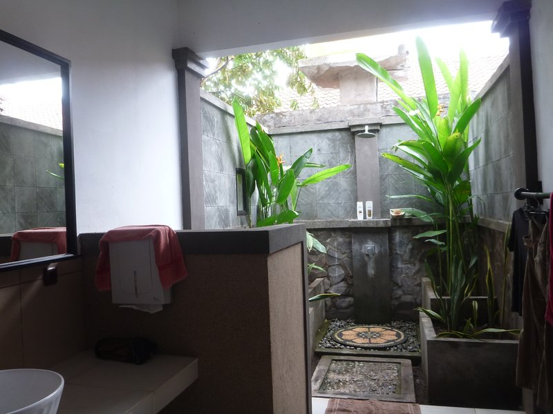 Our outdoor bathroom