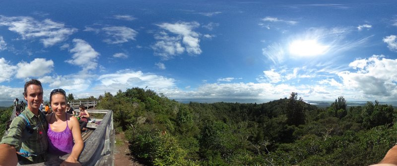 Overlooking the volcanic crater on Rongitoto
