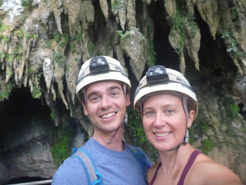 Us, at the mouth of the cave