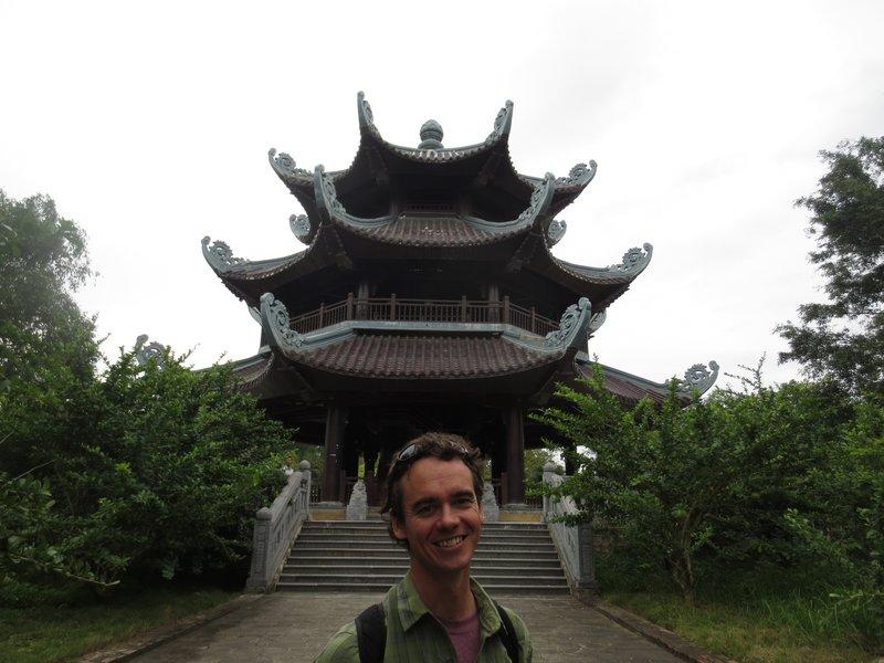 Pagoda in Bai Dinh temple complex