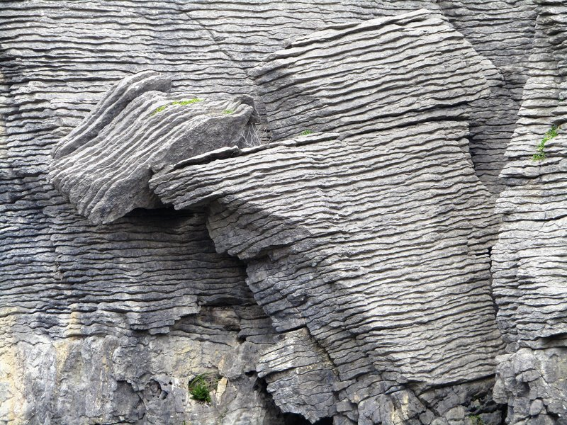 Pancake rocks up close