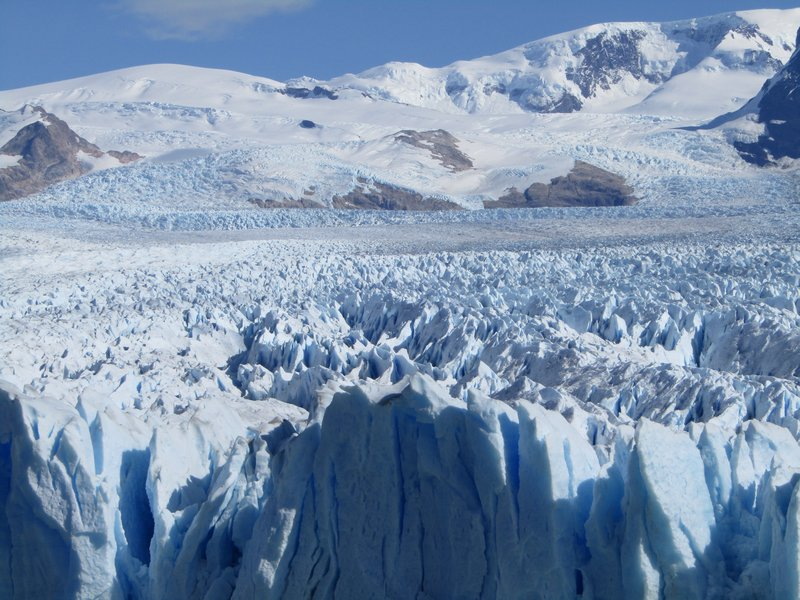 Perito Moreno glacier is 250 sq kilometers