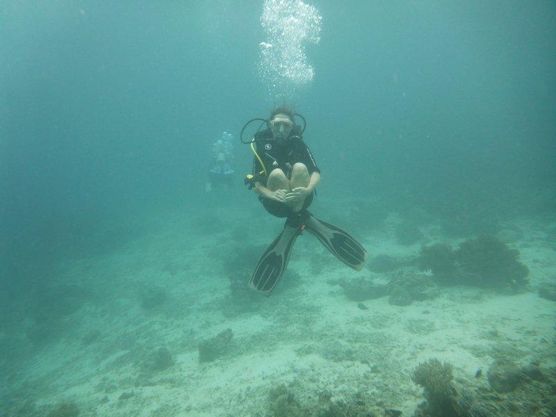 Practicing buoyancy