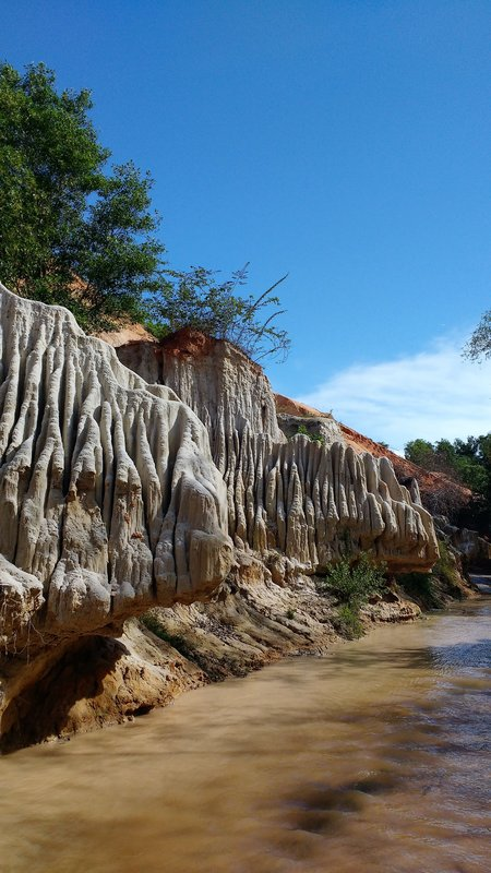 Stalagmites on the fairy stream