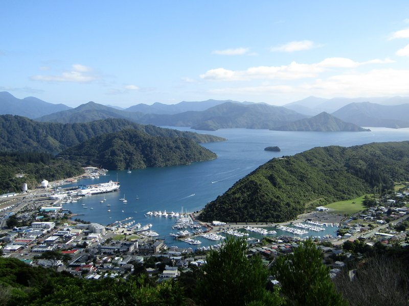 The beautiful port town of Picton