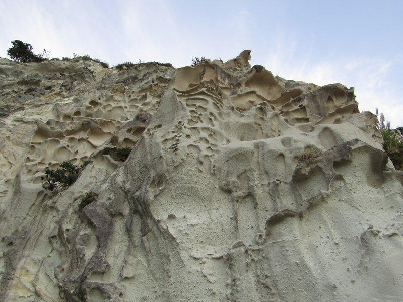 The cliffs of Gemstone Bay