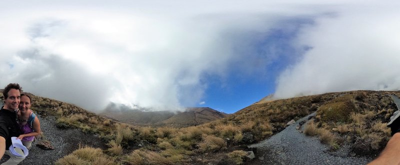 The clouds rolled in for a dramatic descent