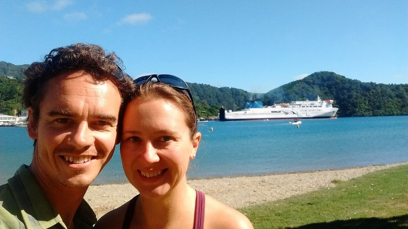 The interislander ferry we took to cross to the north island