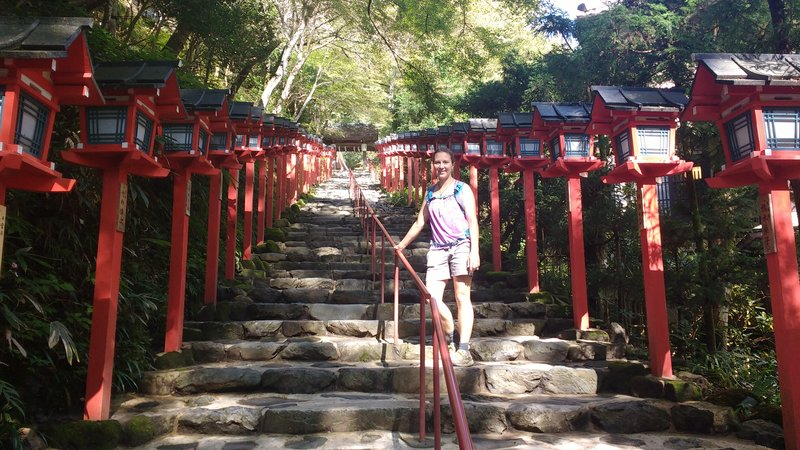 The steps to the temple of Kibune