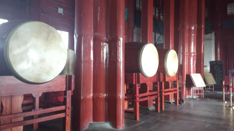 Drum tower - These drums were used to note the hour