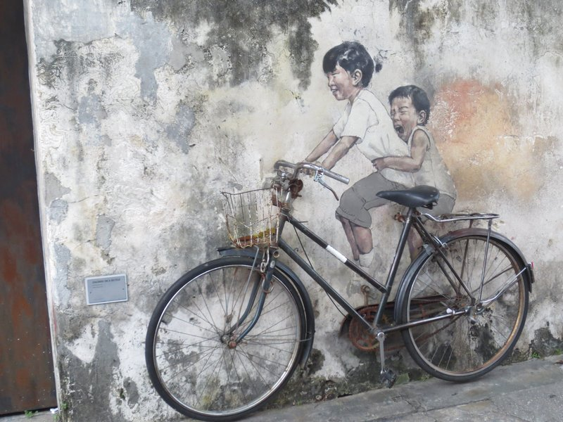 Tourists can sit on the bike for a photo op