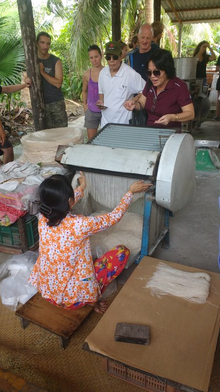Turning rice paper into noodles
