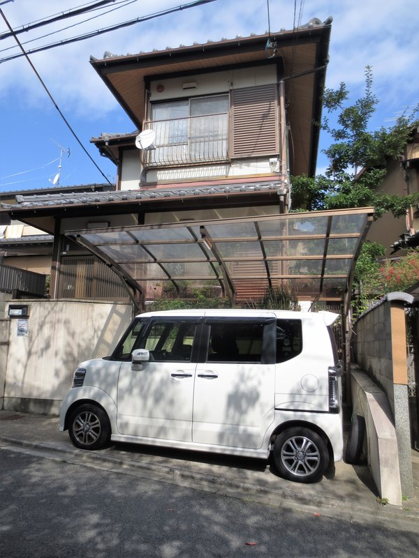 Typical Kyoto house and car