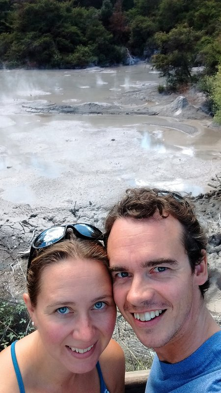 Us with boiling mud pools