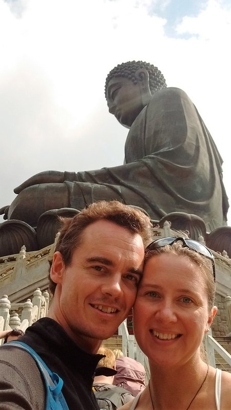 Us with the Buddha