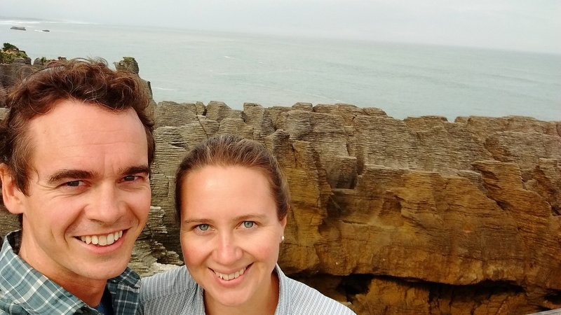 Us with the pancake rocks