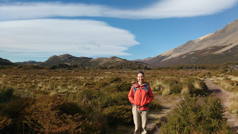 Varied terrains on the Fitzroy track