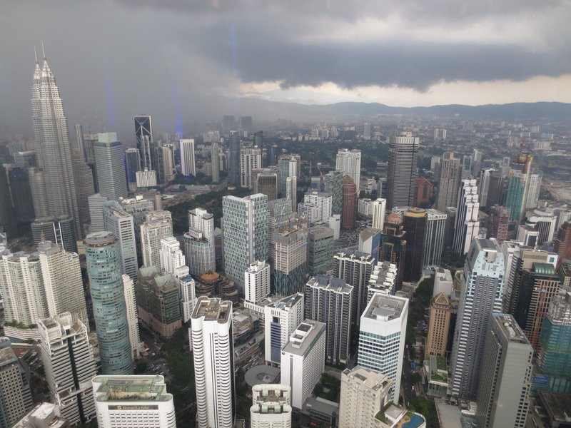 View from KL Tower.  Most afternoons brought clouds and rain, which helped stifle the heat