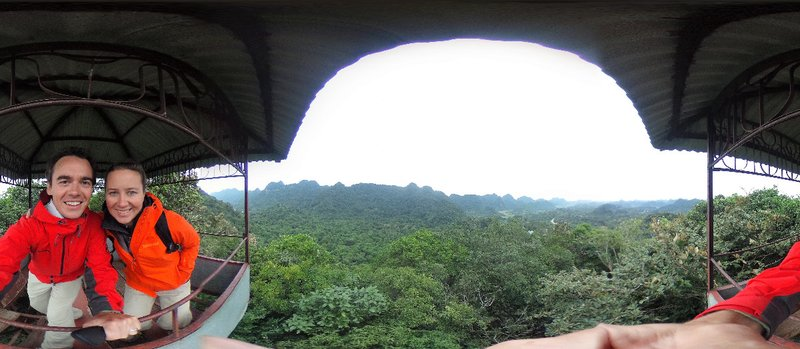 View of Cuc Phuong from observation tower