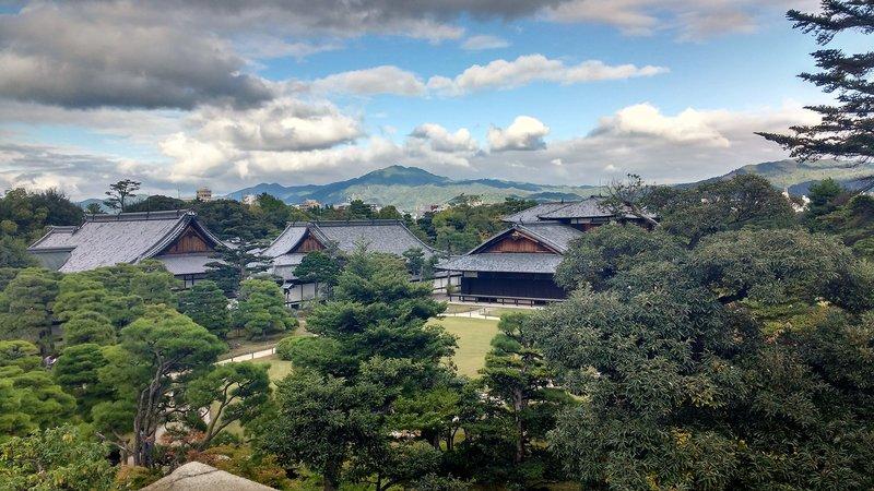 View of Nijo castle from gardens