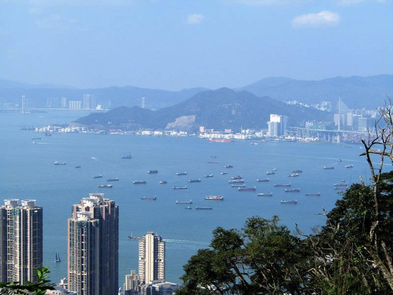 View of the bay from Victoria Peak