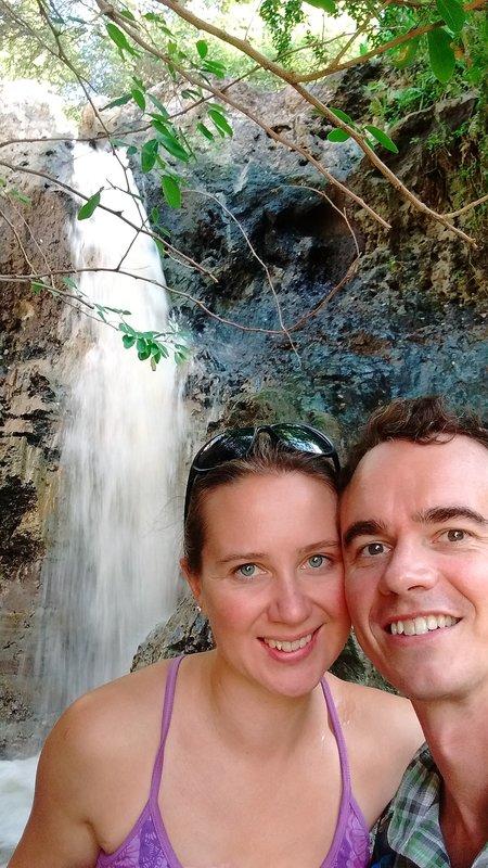Waterfall on the fairy stream