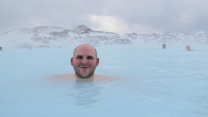 Me in the Blue Lagoon
