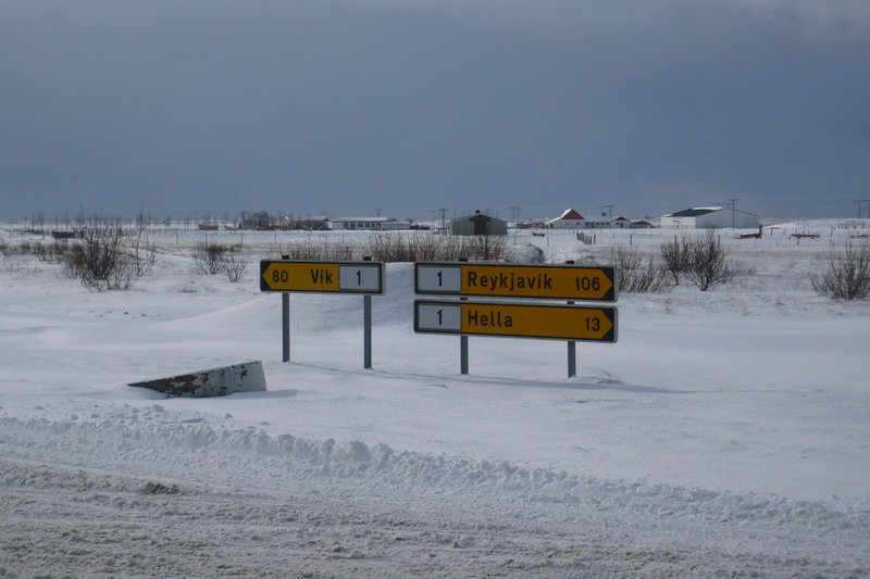 Road signs on Route 1