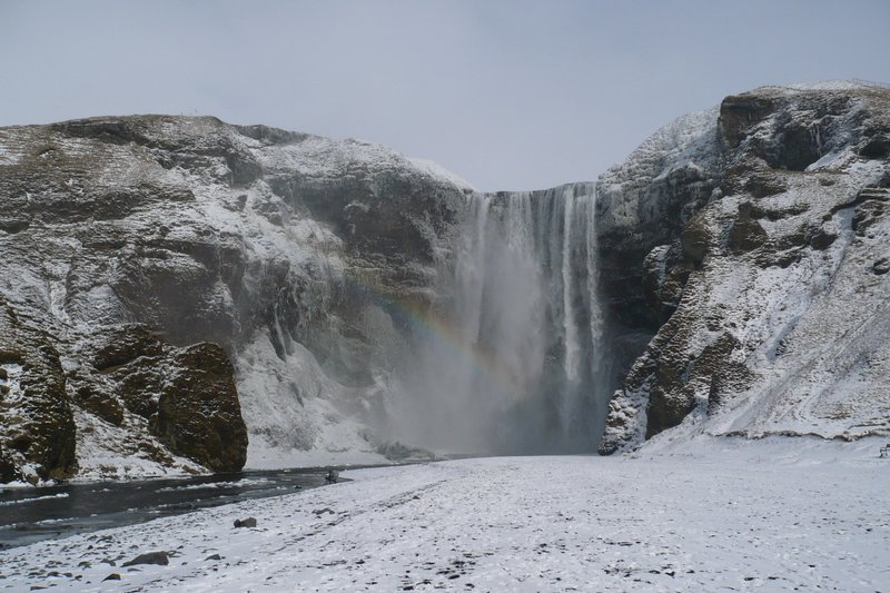 Skogafoss in the winter