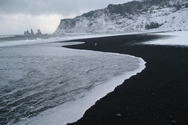 black beach at Vik
