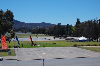 Parliament house forecourt