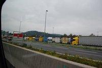 Truck stop in Austria