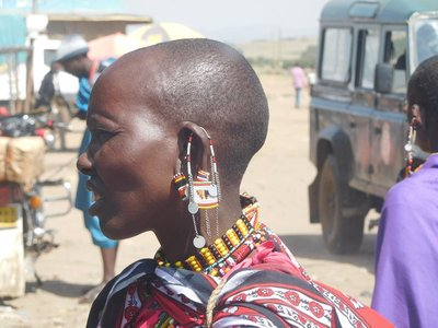 Masai ear adornment
