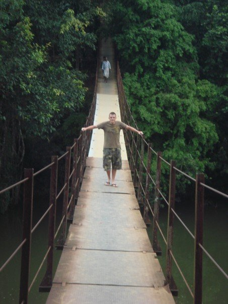Me on the bridge over the river Kwai