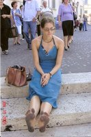 Shoeless in Roma After the Tragic Death of My Beloved Flip Flop