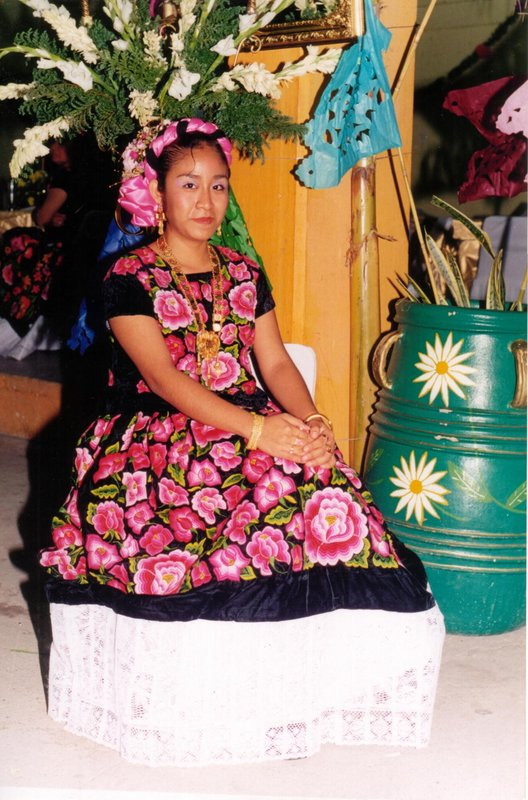 Erika in typical Zapotec Dress