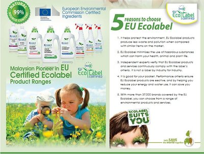 Certified ecolabel product ranges