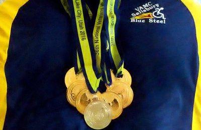 Linda - 2016 Wheelchair Games Medals