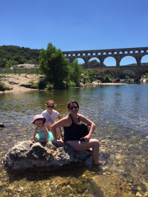 Pont du Gard with Auntie and Mylène