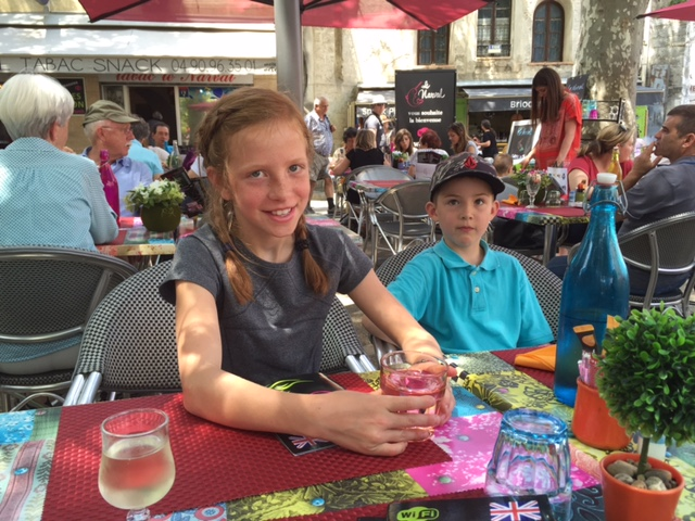 Luc and I at lunch in Arles