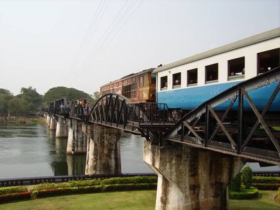 Train on the River Kwai Bridge