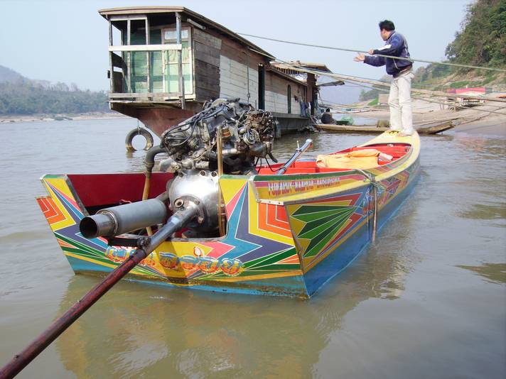 Our speed boat, Luang Prabang