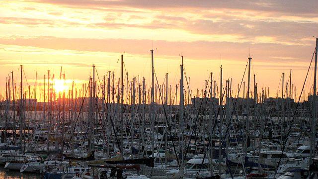 5-Sunset over La Rochelle Les Minmes