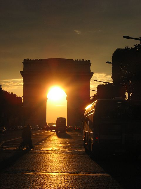 3-sunset over arc de triomphe2