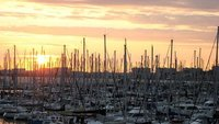 5-Sunset over La Rochelle Les Minmes