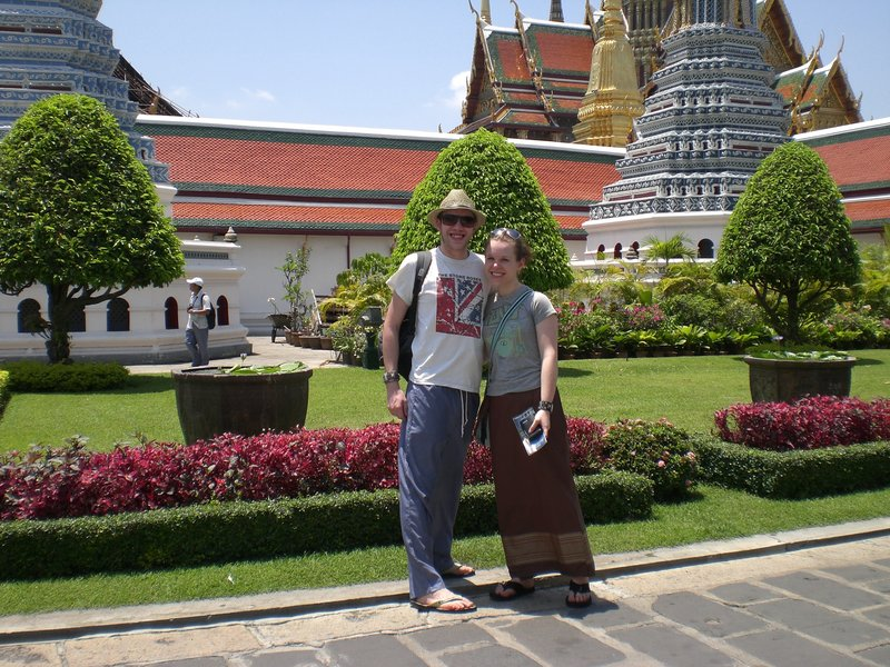 Katy and Jamie at the Grand Palace