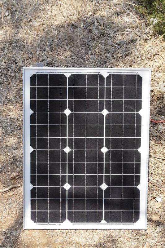 A small solar panel